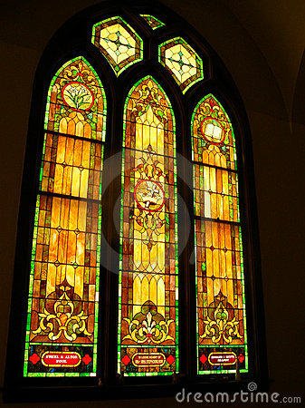 Church Stained Glass Windows Stock Photography Image