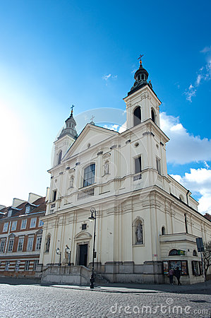 Church in Stare Maisto - Old Town Warsaw Editorial Stock Photo