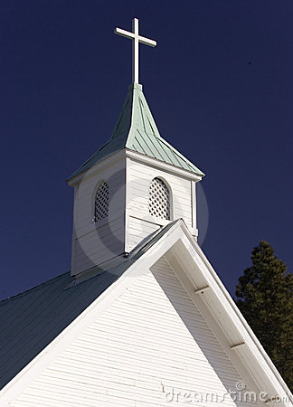 Church steeple.