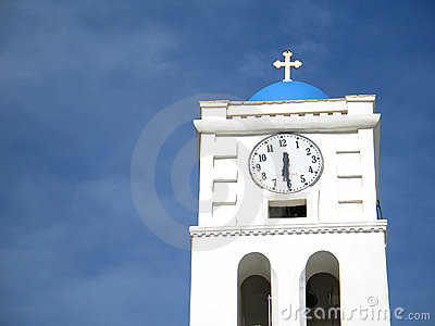 Church Steeple and Clock