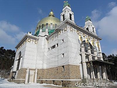 Church Steinhof in Vienna, Austria Editorial Photo