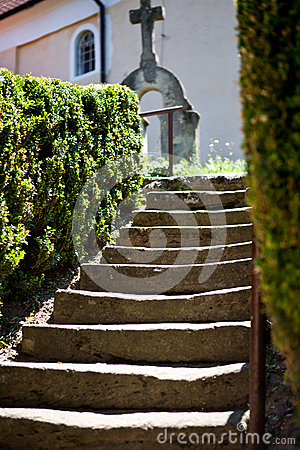 Free Church Steps Royalty Free Stock Image - 26384496