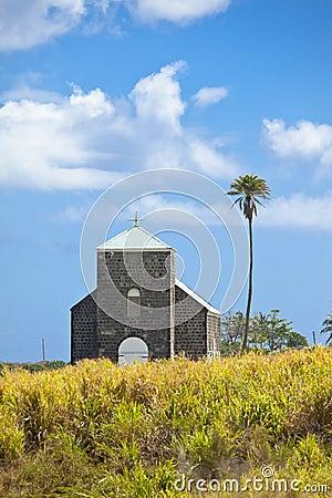 Church in sugarcane field