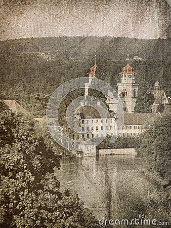 Church in Swiss near river