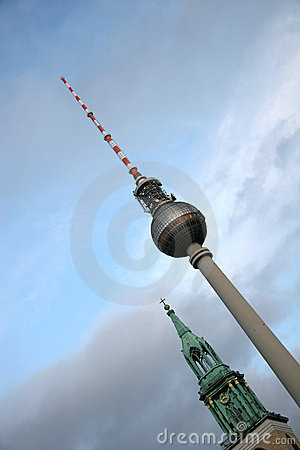 Church And Television Tower In Berlin