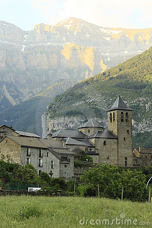 Church of Torla in Ordesa, pyrenees