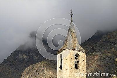 Church tower in Espot