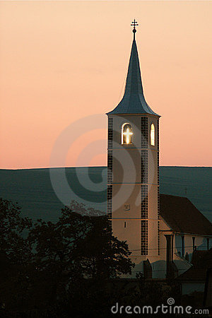 Church tower in Transylvania