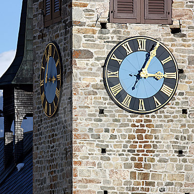 Free Church Tower With Clock Stock Images - 11389654