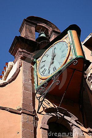 Free Church Tower With Clock Royalty Free Stock Image - 5085666