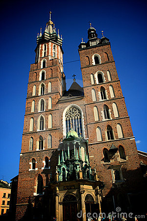 Church towers in Krakow