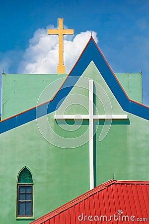 Church two crosses