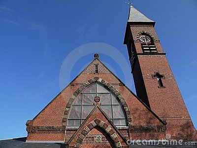 Church: Victorian Gothic brick detail