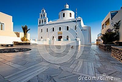 Church at village Oia, Santorini