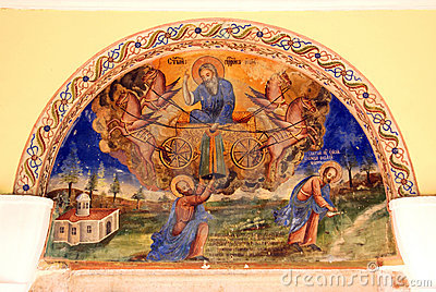 Church wall painting