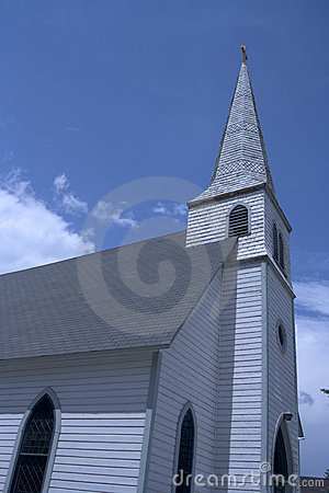 Church with wide angle