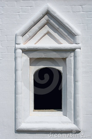 Old russian architecture window