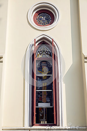 Free Church Window Stock Image - 47132291