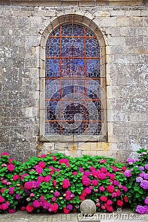 Church window in Brittany