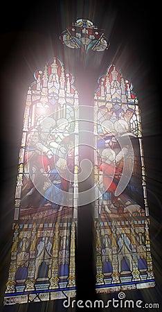Free Church Windows Stock Image - 13770441