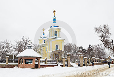 Church at winter