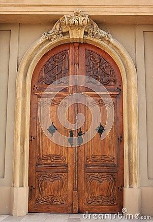 Church wood door