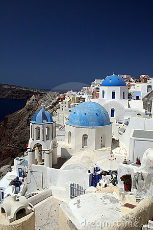 Churches in Oia, Greece