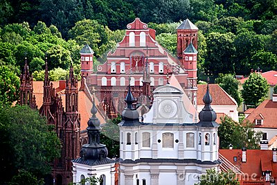 Churches of Vilnius, Lithuania