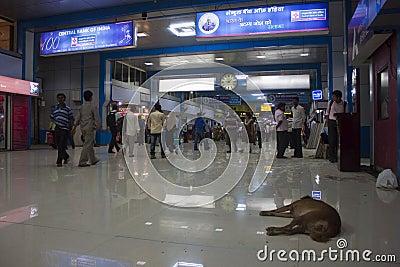 Churchgate railway station in Mumbai Editorial Photography