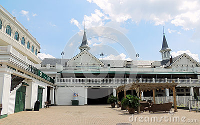Churchill Downs:  Twin spires and courtyard Editorial Stock Image