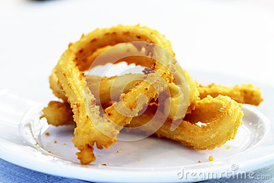 Churros gastronomic scene highlighting breakfast