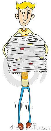 Chwytów udziału papieru osoba