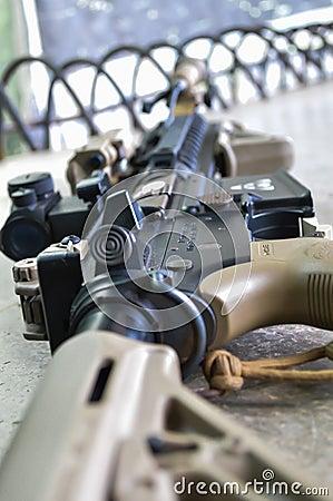 Ciérrese encima de un arma del BB.