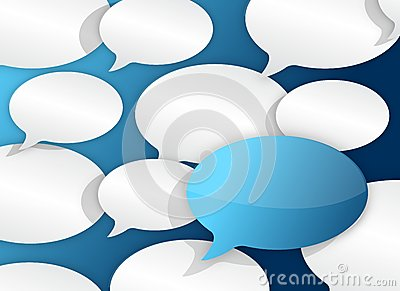 Ciérrese para arriba del texto de muchos globos