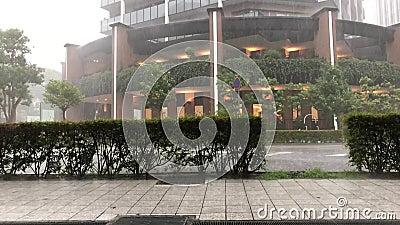 Ciężki deszcz w Kobe, Japonia zdjęcie wideo