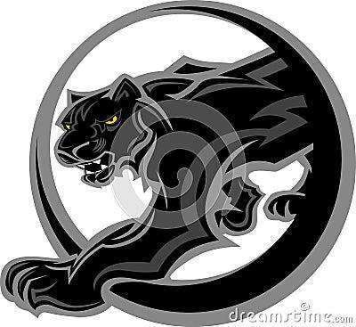 Ciała graficzna maskotki pantera