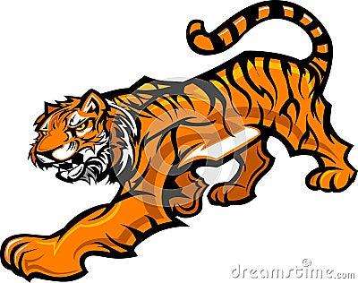 Ciała graficzny maskotki tygrys
