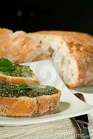 Ciabatta with pesto