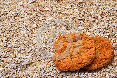 Ciastka kopiują oatmeal przestrzeń