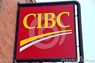 CIBC Bank Sign Editorial Stock Photo