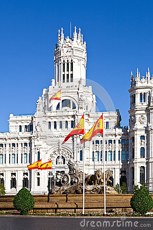 Cibeles Fountain and Palacio de Comunicaciones