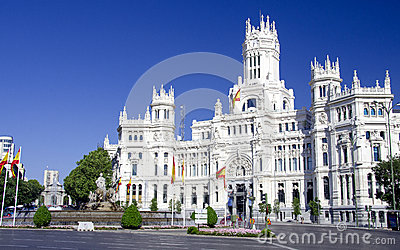 Cibeles place in Madrid, Spain