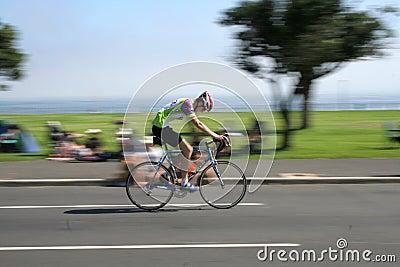 Ciclista de Argus del cabo Foto editorial