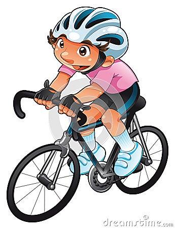 Ciclista del bambino