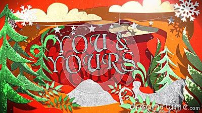 Ciclo di Outs del taglio della carta del buon anno e di Buon Natale 4K royalty illustrazione gratis