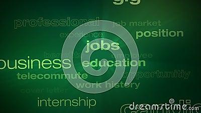 Ciclo di parole di occupazione e di lavori illustrazione di stock