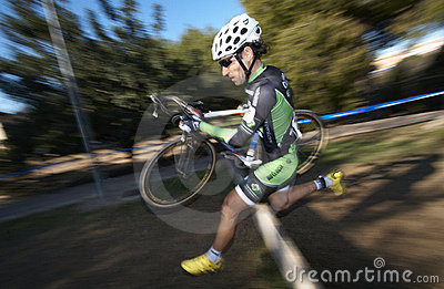 Ciclocross jump Editorial Image