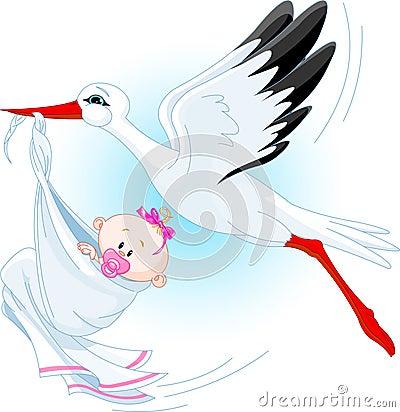 Cicogna e bambino