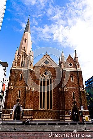Cidade de Austrália da igreja de Perth St Andrew Fotografia Editorial
