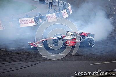 Cidade de Baviera Moscovo que compete 2010, Jenson Button Imagem de Stock Editorial